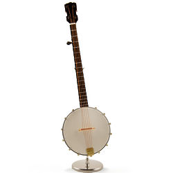 Miniature Replica Old Fashion Banjo Music Box