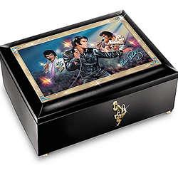 Burning Love Elvis In Concert Illuminated Music Box