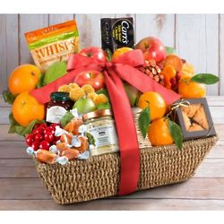 Paradise Fruit, Nut & Cheese Gift Basket