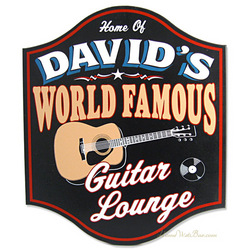 Famous Guitar Lounge Personalized Sign