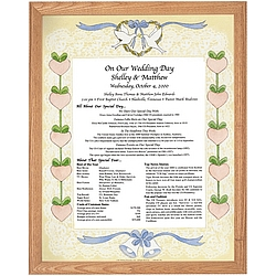 Framed Wedding & Anniversary Keepsake