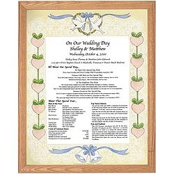 Framed Wedding & Anniversary Keepsake Print