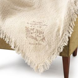 Blending of Lives Tan Marriage Throw