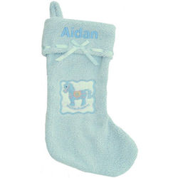 Blue My First Christmas Stocking