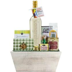 Congratulations Engraved Wine Bottle and Gift Basket