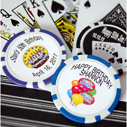 Custom Printed Birthday Poker Chip