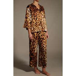 Azuma Satiny Leopard Print PJ Set