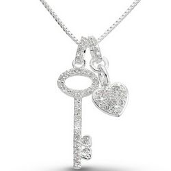 Pavé Key Necklace