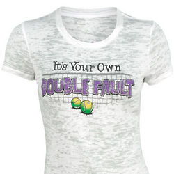 Women's It's Your Own Double Fault White Tennis T-Shirt