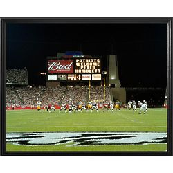 New England Patriots Personalized Scoreboard 16x20 Framed Canvas