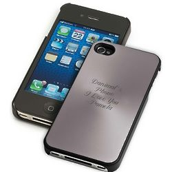 Engravable Gunmetal iPhone Case