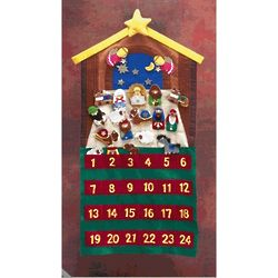 Felt Advent Calendar with Velcro Figurines