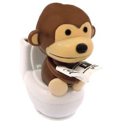 Monkey on the Toilet Solar Motion Toy