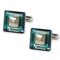 Square Swarovski Crystals Cufflinks
