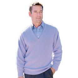 Men's Pure Cashmere V-Neck Sweater