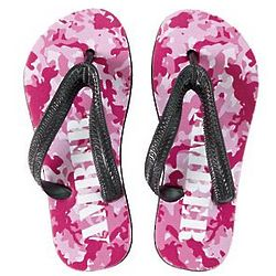 Pink Camouflage Personalized Kid's Flip Flops