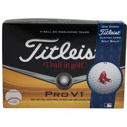 Personalized Boston Red Sox Pro V1 MLB Golf Balls