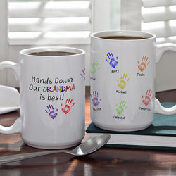 Hands Down Personalized Coffee Mug