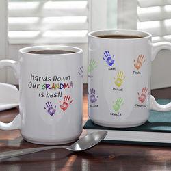 Hands Down Personalized Coffee Mug