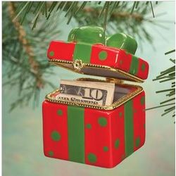 Merry Dots Trinket Box Ornament