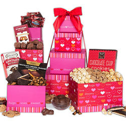 Valentine's Day Sweet Delivery Gift Tower