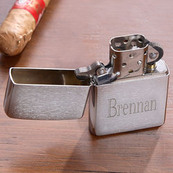 Personalized Chrome Zippo Windproof Lighter