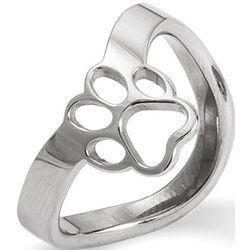 Paw Print Cutout Thumb Ring