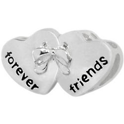 Friends Forever Hearts Charm Bead