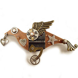 Messenger of Love Bird Pin