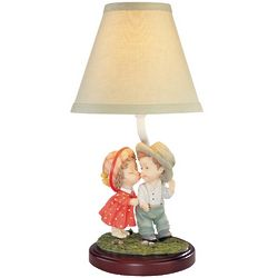 Children's Accent Table Lamp with Two Shades