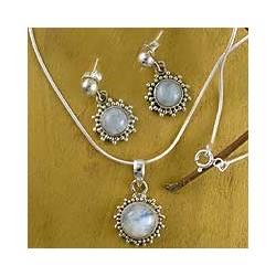 'Goddess' Moonstone Jewelry Set