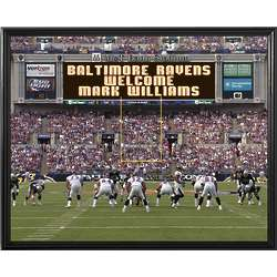 Baltimore Ravens Personalized Scoreboard 16x20 Framed Canvas