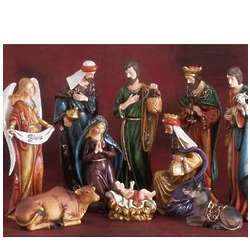 10 Piece Porcelain Nativity