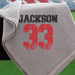 Personalized Sports Jersey Blanket