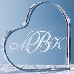 Personalized Monogram Heart Cake Topper