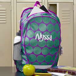 Girl's Polka Dots Personalized Backpack