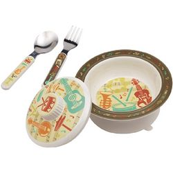 I Love Music Suction Cup Plate Set