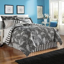 Midnight Paisley Complete Bed King Save 24%