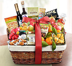 Ultimate Fresh Fruit, Sweet & Savory Gift Basket