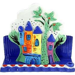 Ceramic Jerusalem Hanukkah Menorah