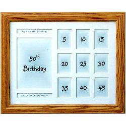 "50th Birthday 11x14"" Horizontal Frame"