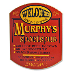 Sports Pub Personalized Sign