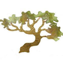 Brass and Copper Tree Pin