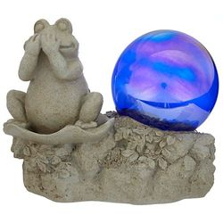 Frog with Gazing Ball