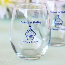 Personalized Birthday Stemless Wine Glass