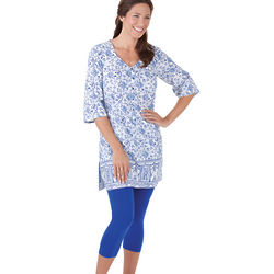 Ming Floral Tunic & Leggings Pajamas