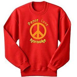 Personalized Peace, Love Sweatshirt