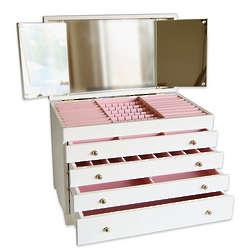 Grand Wonderful White Jewelry Box