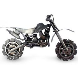Motorcross Bike Auto Parts Sculpture