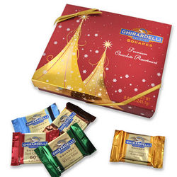 Ghirardelli Squares Gold Tree Gift Box